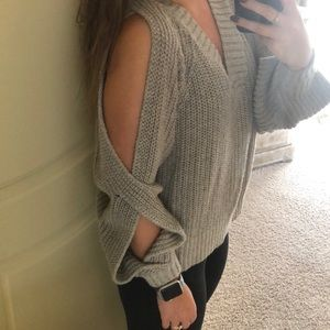 Oversized Cutout Sweater